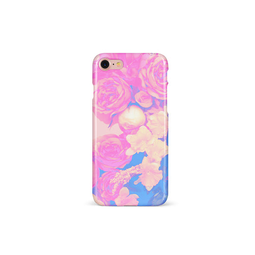 Flowered In Blue Phone Case