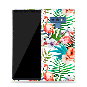 Flamingos With Leaves Design Phone Case