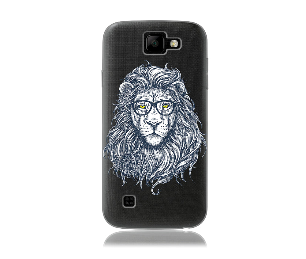 Hipster Lion Design Phone Case