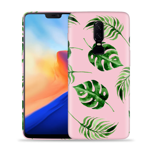 Banana Leafs on Pink Design Phone Case
