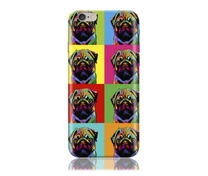 Pug in Colors Design Phone Case