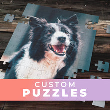 Load image into Gallery viewer, Custom Heart & Rectangular Photo Puzzles- 3 sizes.