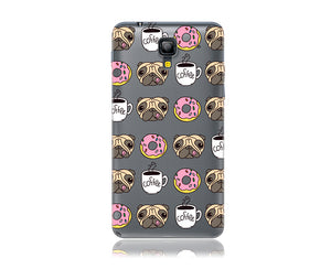Pugs Donuts and Coffee Design Phone Case