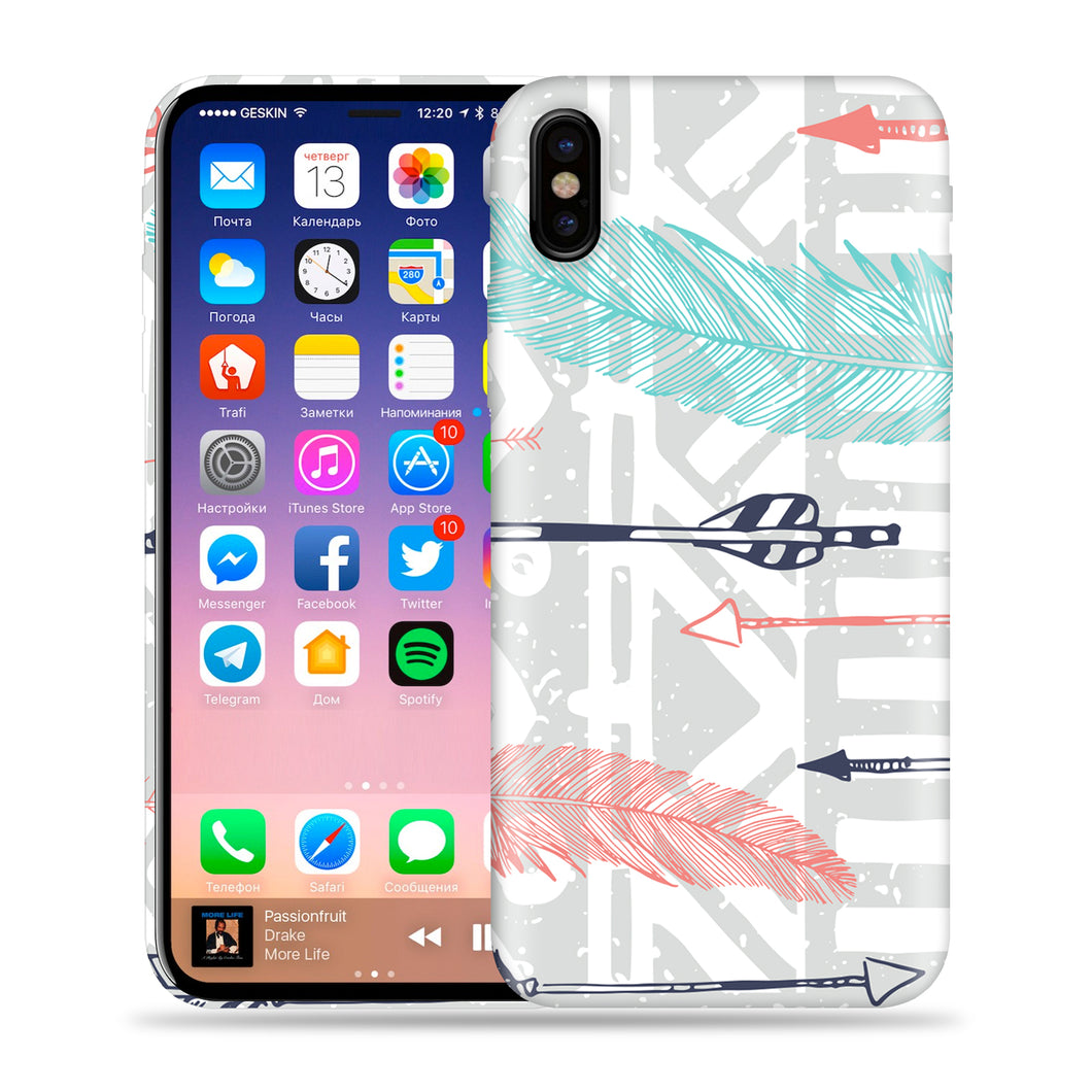 Feathery Tribal - Arrows and Feathers Design Phone Case