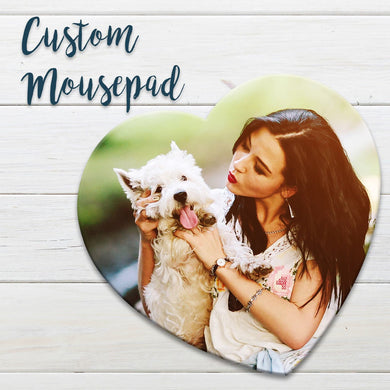 Custom Photo Mouse Pad, Design Your Own Personalized Mouse Pad - Monogrammed Mouse Pad, Perfect for Mother's day, Weddings, Birthday Gifts.