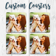 Load image into Gallery viewer, Custom Designed Photo Coasters. Solo or 4 Packs, Tons of shapes!