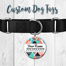 Load image into Gallery viewer, Double Sided Custom Dog Tags + Key Chain Ring.