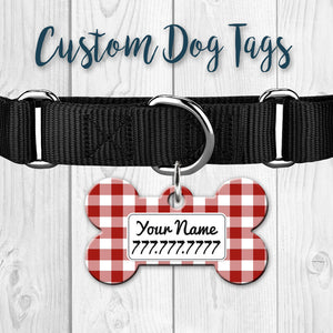Double Sided Custom Dog Tags + Key Chain Ring.