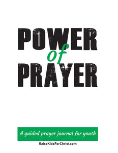 Prayer Journal for Kids & Youth in 2 Sizes With 3 Cover Options (Digital Product Only for Download)