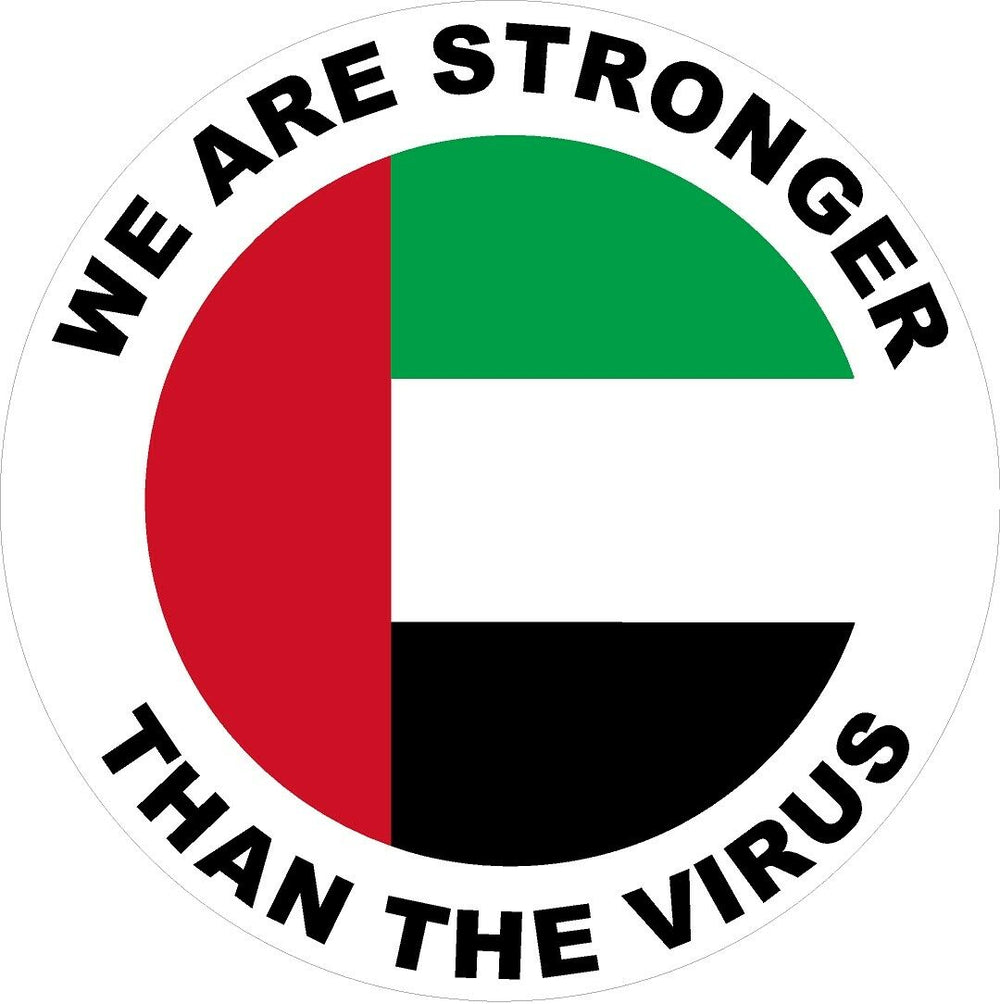 United Arab Emirates We are stronger than the Virus Decal