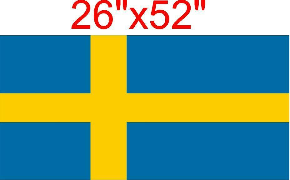 custom size SWEDISH COUNTRY FLAG 26