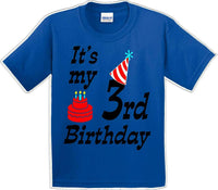 It's my 3rd Birthday Shirt with Birthday cake design  - Youth B-Day T-Shirt - JC