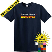 Social Media Rockstar - Funny shirt - short sleeved T-shirt TSM11