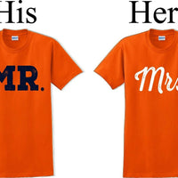 Mr. and Mrs.-Couples Shirts-Valentines shirts- V- Day shirts-Sold Individually