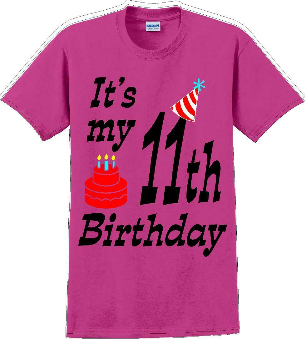 It's my 11th Birthday Shirt with Birthday cake design - Adult B-Day T-Shirt - JC