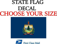 VERMONT STATE FLAG, STICKER, DECAL, 5 YR VINYL State Flag of Vermont