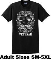 Blood Sweat and Tears, Veterans day Soldier USA Support T-Shirt