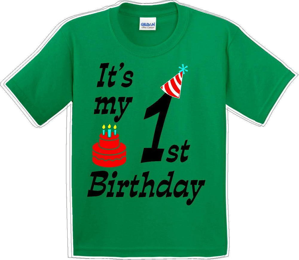 It's my 1st Birthday Shirt with Birthday cake design  - Youth B-Day T-Shirt - JC