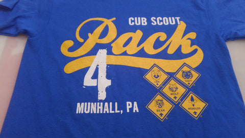 Pack 4 Shirt Royal Blue
