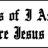 "nails of I am 3""x9"" motor cycle ministry bumper sticker"