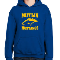 Mifflin Mustang hoodie royal blue, Youth Sm-XL