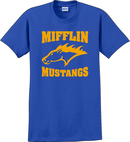 Mifflin Mustang shirt royal blue Sm-5XL