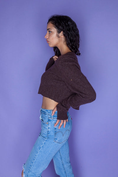 Brown Cropped Sweater