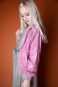 Pink Zip-Up Wind Breaker