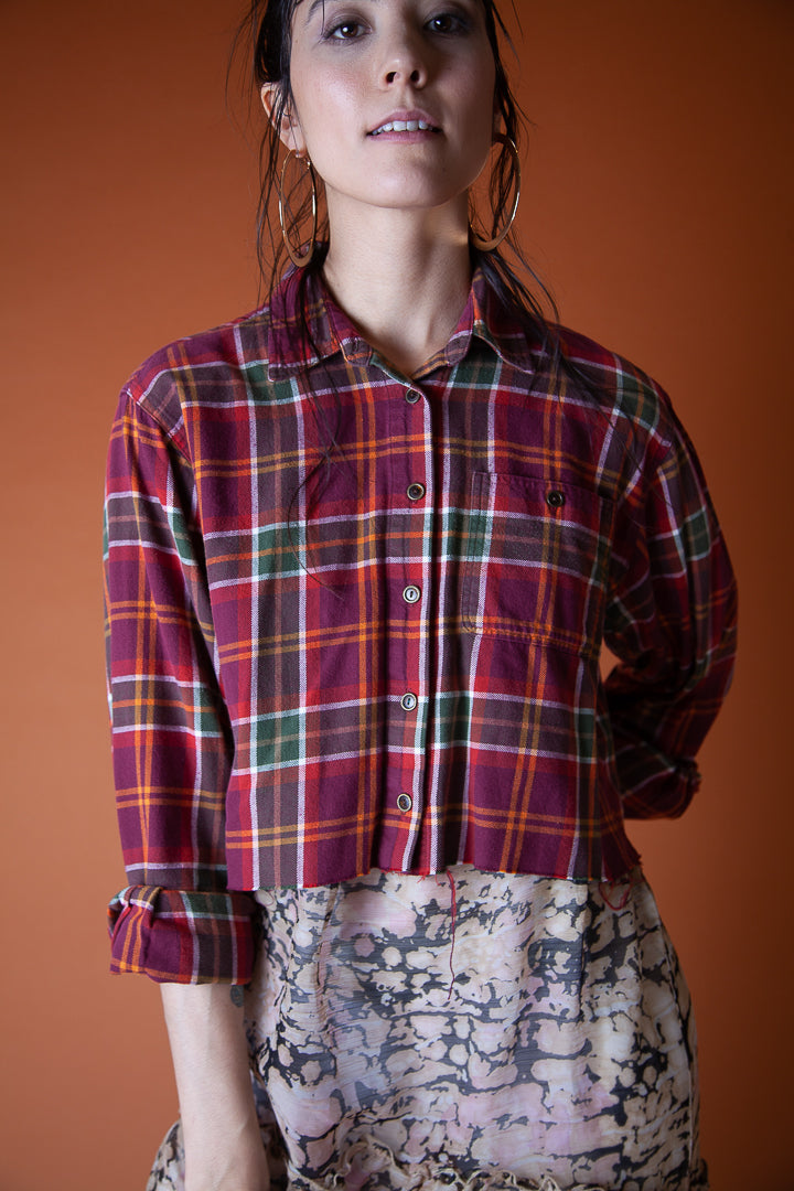 Cropped Red Flannel
