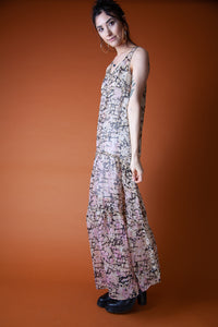Sweeping Full Length Willow + Clay Dress