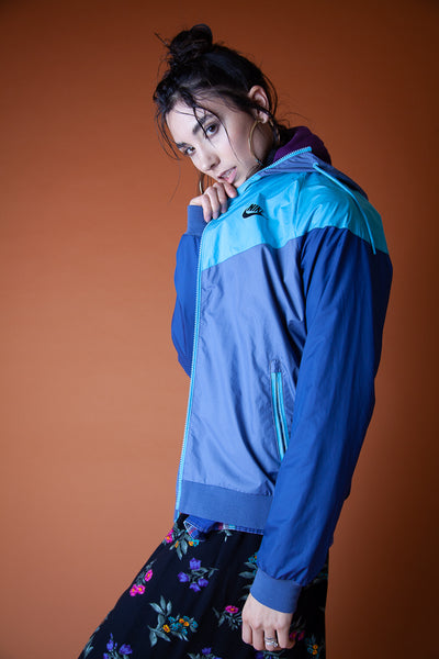 Blue Athletic Rain Jacket