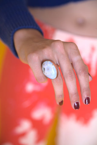 Opaque Blue Ring