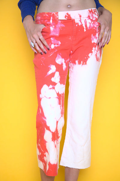Pink Splattered Washed Pants