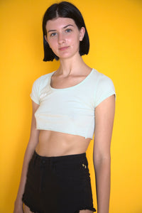 Light Green Fitted Crop Top