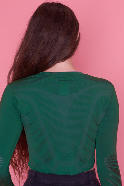 Athletic Green Crop Top