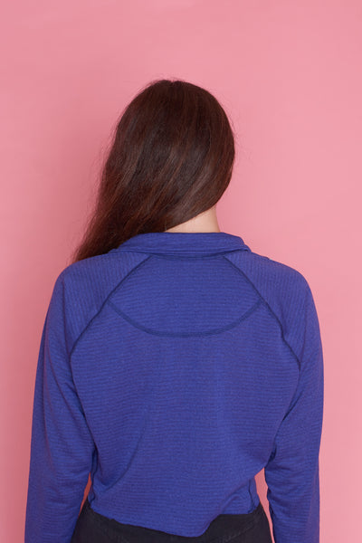 Cropped Blue Zip-Up