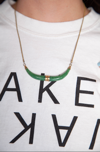 Long Chain Green Necklace