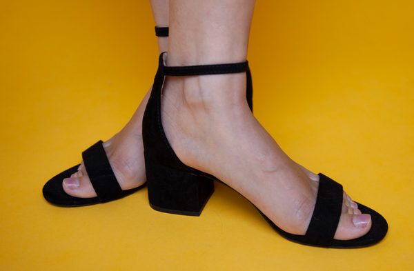 Black High-Heeled Sandals