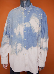 Splattered Button Down
