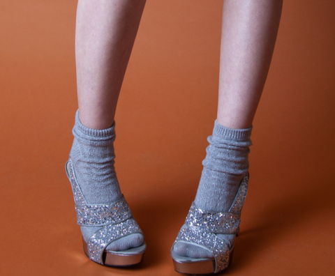 Sparkly Silver Stilletos