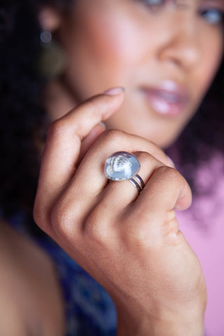 Glass Shell Ring