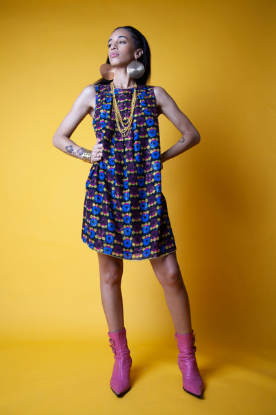 1960s Multicolored Vintage Dress
