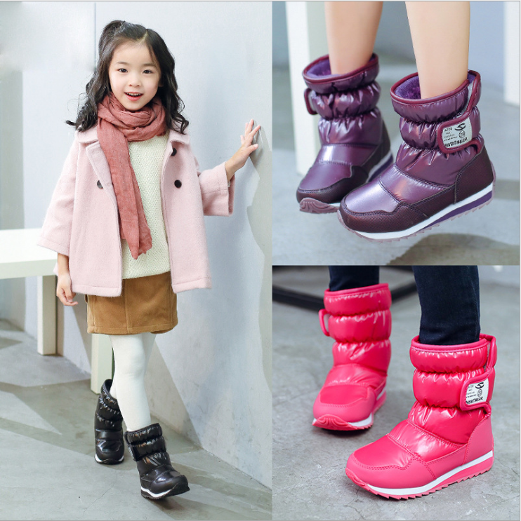 Kids Outdoor Winter Snow Boots Waterproof