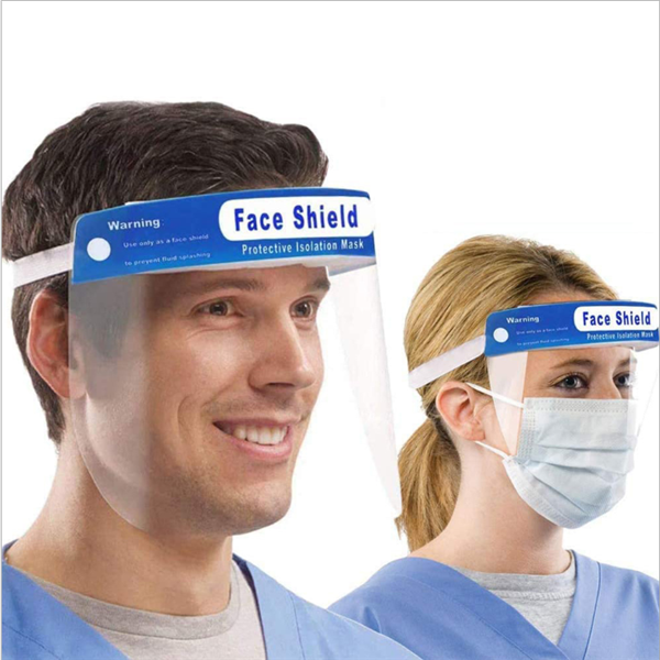 Transparent Face Shield Safety Full Protection Face Mask Anti-Fog Lens Lightweight Adjustable Face Shield for Men Women
