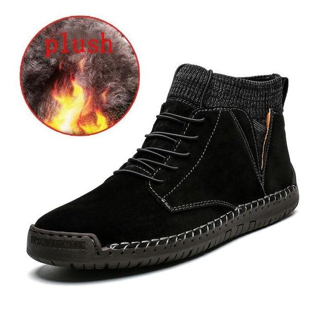 2019 New Men Fashion Fur Flock Boots