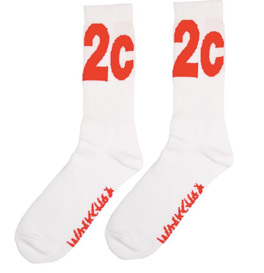 "WWB ""MAX"" Socks White/Red"