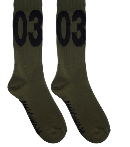 "WWB ""MAX"" Socks Washed Hunters Green/Black"
