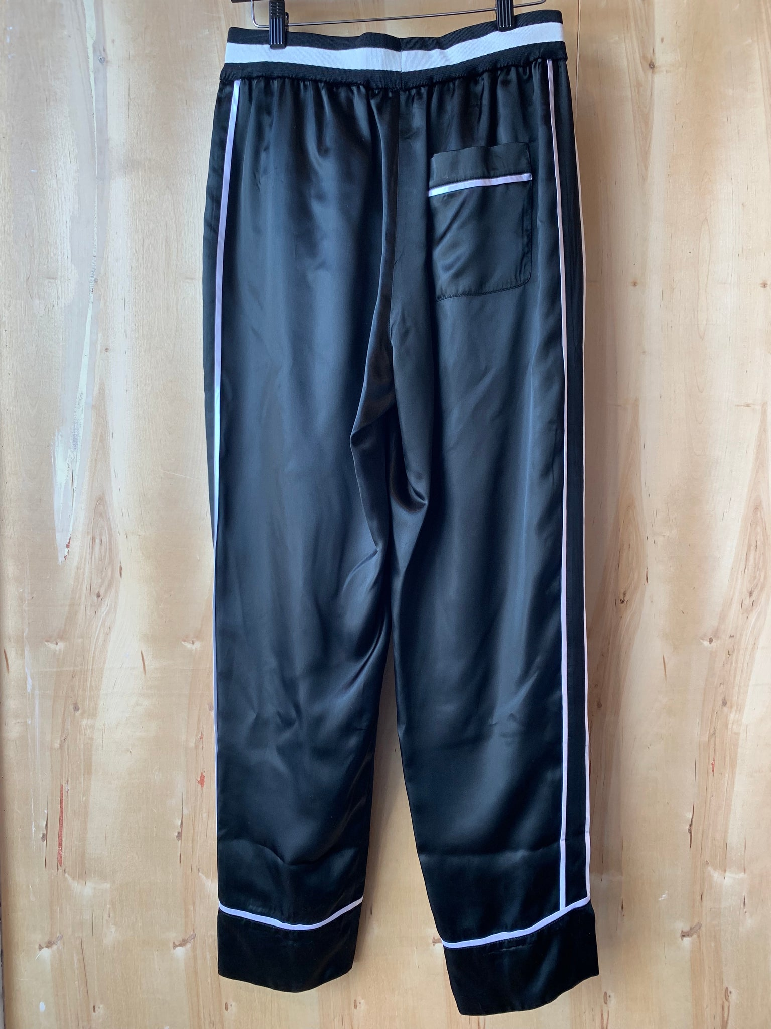 Reversible Cropped Elastic Waist Pants