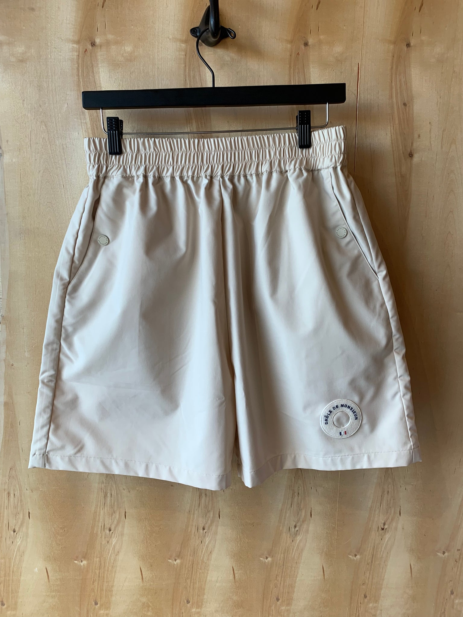 Patch Logo Shorts Beige