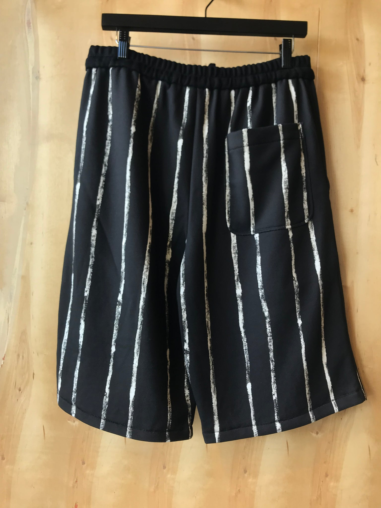 Painted-stripe sweat shorts